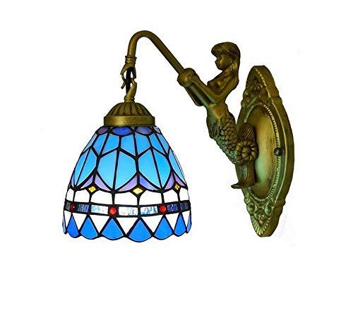 Chandeliereuropean Retro Stained Glass Wall Lamp, Creative Garden Sun Flower Sconces, Suitable For Bedroom, Living Room, Corridor