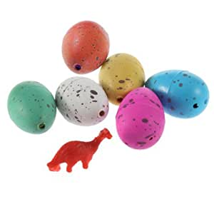 SODIAL(R) 6x Cute Growing Hatching Magic Dinosaur Egg Add Water Child Inflatable Toys