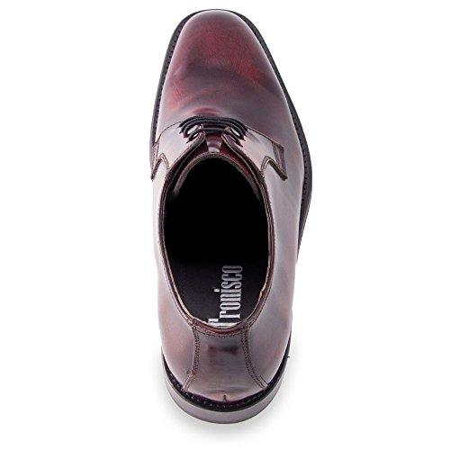 Masaltos Scarpe con Rialzo da Uomo Che Aumentano l'Altezza Fino a 7 cm. Fabbricate in Pelle. Modello Oporto Bordeaux