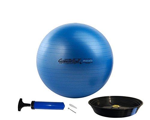 PEZZIBALL MAXSAFE Gymnastikball + Schale + Pumpe, 42, 53, 65, 75 cm, ALLE Farben (blau, 53)