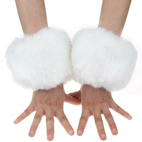 Ein Paar Fox Fur, Damen, Armband, Ringe, Warm FUZZY Handgelenk warm