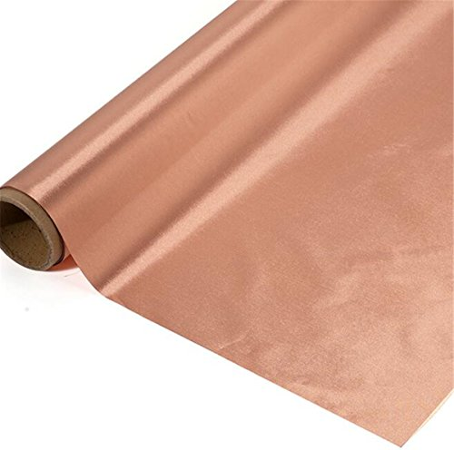 EMF RFID EMI RF blockierender Kupfer vernickelt ableitfähige elektromagnetischen Smart Meter Schutz Erdung/Erde Faser Stoff Golden Farbe, 118