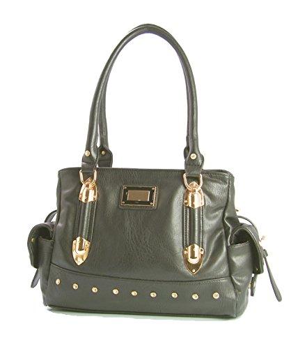 Big Handbag Shop ,  Damen handtaschen Dark Grey (ST836)