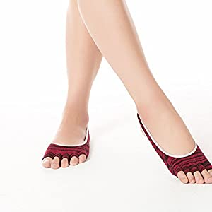 BSD Fußabdeckung Yoga Socken aus Reiner Baumwolle Grabenloch Anti-Rutsch-Leckage gelten für Frauen
