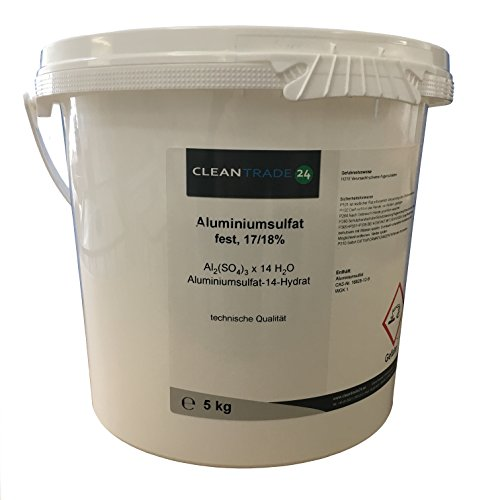 5 kg Aluminiumsulfat 17/18% fest, Flockungsmittel, Isoliersalz, Dünger, Hortensien