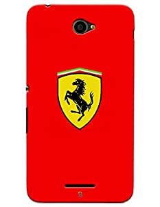 Sony Xperia E4 Cases & Covers - Ferrari Shield Case by myPhoneMate - Designer Printed Hard Matte Case - Protects from Scratch and Bumps & Drops.