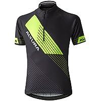 Altura Camiseta de Manga Corta para Ciclismo de niño, Infantil, Youth Sportive Short Sleeve Jersey, Black/hi Viz Yellow