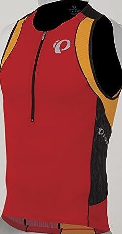 PEARL iZUMi Elite Inrcool Tri Singlet Firey Red/Black Combo