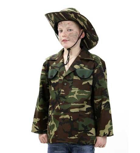 ngel Jacke 128 - 164 (Dschungel Kämpfer Kind Kostüme)