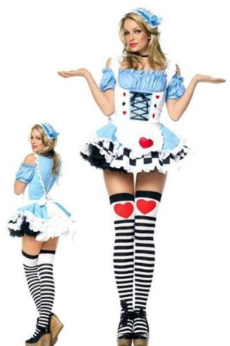 Leg Avenue Miss Wonderland Kostüm 2-teilig, 1 (Kostüme Miss Wunderland)