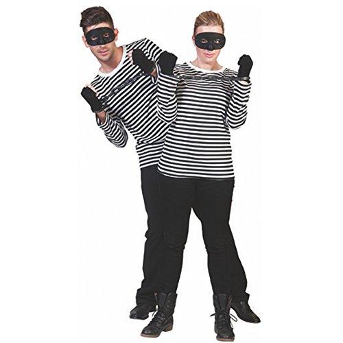 Langarm T-Shirt schwarz/weiß Kostüm Gondoliere Pantomime Spanier Fasching (Pantomime Ideen Kostüm)