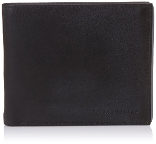 Peter England Black Men's Wallet (R31792114)  available at amazon for Rs.628