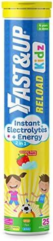 Fast&Up Reload Kids – Instant Electrolytes for kids – Instant Energy - 25 Effervescent Tablet – Wonder Ber