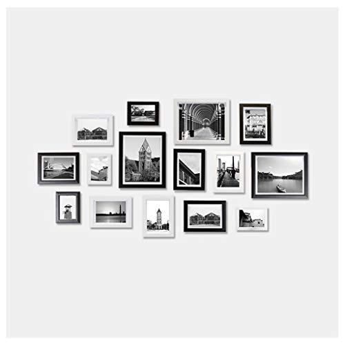 Miya Foto-Wand-hölzerner Foto-Rahmen-Kombinations-Satz Von 15 Einfacher Blumen-Bett-Wohnzimmer-Hintergrund-Dekoration - Blume-bett-satz