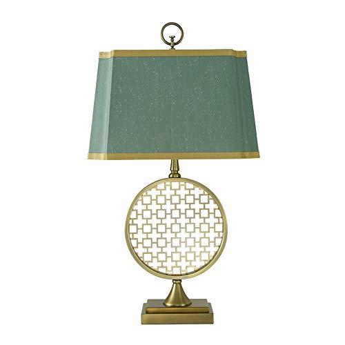 XTL Nachttischlampe High-Transmission Gold Mesh Stoff LED Lichtquelle für Studie Schlafzimmer Wohnzimmer Ausstellungsbar, etc. (Foyer-tisch-set)