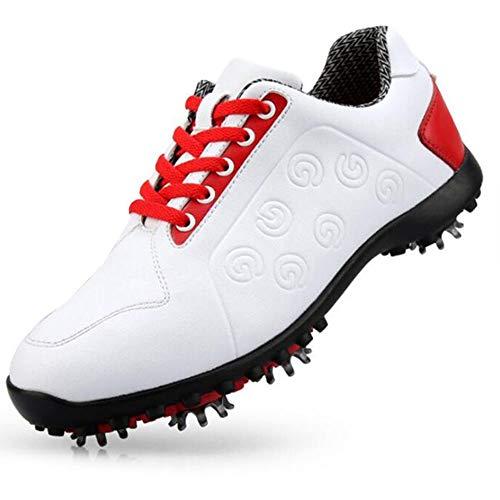 XIANGYANG Scarpe da Golf da Donna, Scarpe da Golf Impermeabili da Donna in Pelle in Microfibra Scarpe da Allenamento per Escursionismo Leggere,40