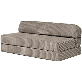 Changing Sofas Kong Steel Jumbo Cord Fold Out Double Z Bed Mattress