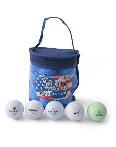 Second Chance Golf d'occasion Americal Lake avec un sac de rangement - Lot de 18