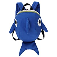Keepwin Baby Toddlers Cute 3D Cartoon Shark Backpack Nursery Kindergarten Book Bag Mini Travel Bag Gifts for Boys Girls (Blue)
