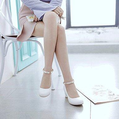 Talloni delle donne della molla Altri similpelle Dress Casual fibbia tacco grosso Nero Rosa Bianco Altro Black