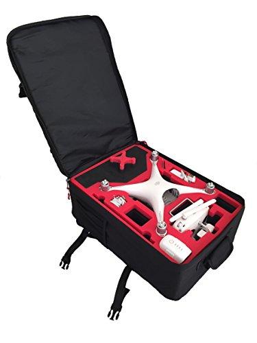 Rucksack von MC-Cases passend für DJI Phantom 4 Professional Plus (Mit Display) mit sehr viel Platz und höchstem Tragekomfort
