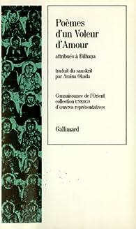 Poèmes Dun Voleur Damour Bilhana Babelio