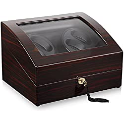 Elegance V1 Keedz Watch Winder for 4 Watches Makassar/Black