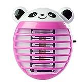 Saingace Repellente Zanzare Lampada,Modello Carino Panda Luce a LED con Zanzariera Elettrica a Forma di Zanzara Fisico Puro Insetticida (Rosa Caldo)