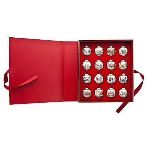 Hutschenreuther 02252-725580-28427 Setzkasten mit 16 Porzellan-Minikugeln in einer Buchschatulle