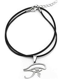 Fengteng El Ojo de Horus Amuleto Egipto Collar Colgante con Cadena