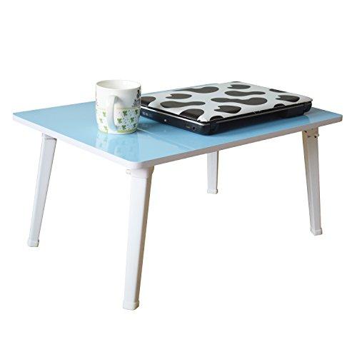 Foto de Jin Qi,En la cama,doblar mesas de computadora portátil,mesas de computadora portátil portátiles de diversos colores,el sofá,la mesa escritorio:azul