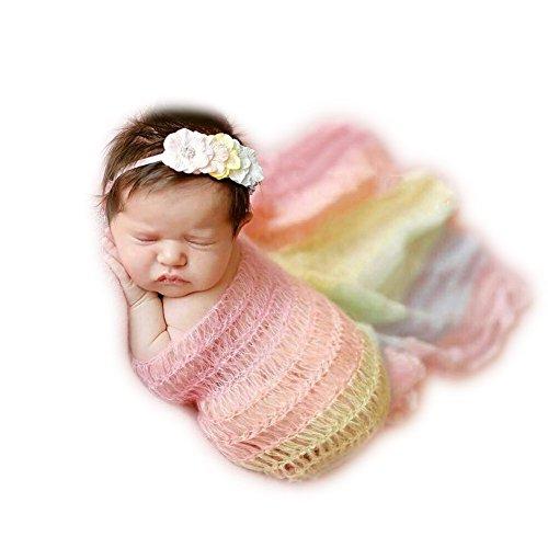 Neugeborene Baby Fotografie Requisiten Boy Girl Crochet Kostüm Outfits Wickeln Garn Tuch (Löwe Kopfschmuck Kostüm)