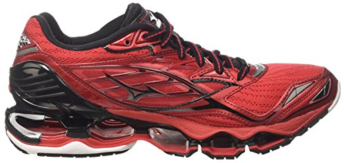Mizuno Wave Prophecy, Chaussures de Course Homme Multicolore (Chinese Red/ Black/white)
