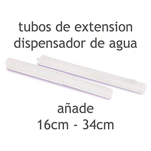 MovilCom® - Juego de Tubos para dispensador Agua para garrafas Compatible con Botellas (Pet) de 2,5, 3, 5, 6, 8 y 10 litros   para Botellas con el tapón diámetro 38mm y 48mm