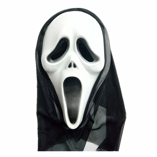 Wansan Ghost Mask Scream Adult Gesicht Kostüm für Halloween Cosplay Party