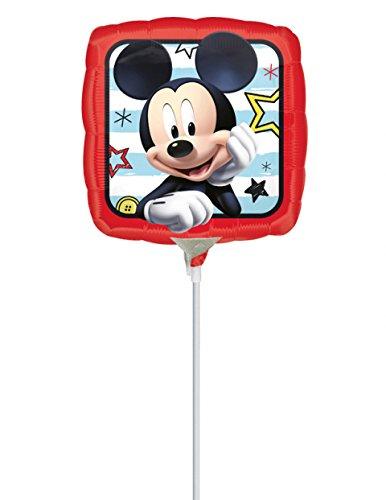 cky Maus-Folienballon Disney-Luftballon auf Stab rot-bunt 23x23cm Einheitsgröße (Mickey Mouse Kostüm Ideen)