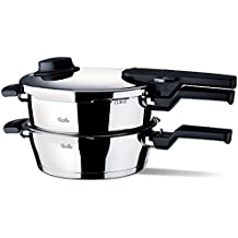 Fissler 610-300-11-000/0 Vitavit Comfort - Juego de batería de cocina de 2 piezas (2,5 y 4,5 L)
