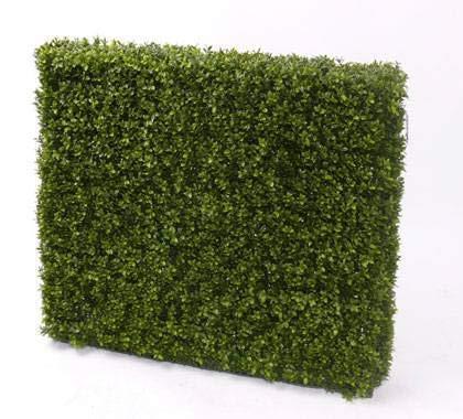 artplants.de Set 'Künstliche Buchshecke und UV Schutz Spray' - Kunsthecke Tom, Metallrahmen, uv - sicher, grün, 100x80cm