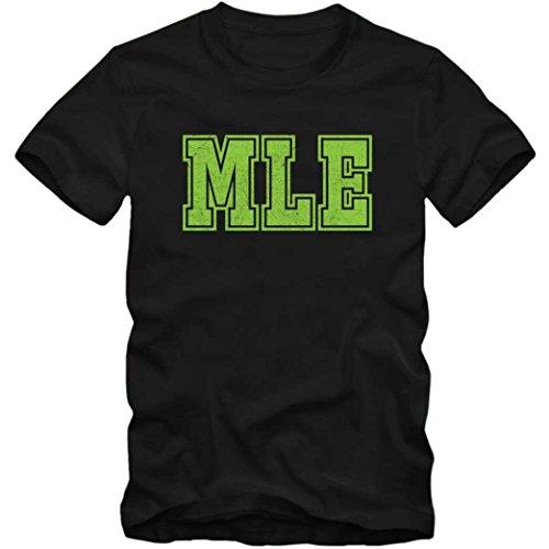 MEL Premium T-Shirt | Airport-Shirt | Melbourne | Reisen | Herren | Shirt © Shirt Happenz Schwarz (Deep Black L190)