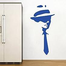 Kult Kanvas Shirt and Tie - Adhesivo decorativo para pared, diseño camiseta y corbata por Banksy, azul brillante, L 60 cm x 121 cm