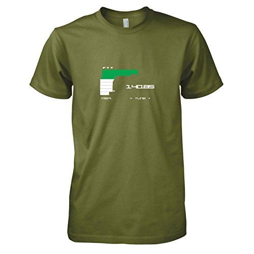 cations - Herren T-Shirt, Größe M, oliv (Phantom Pain Snake Kostüme)