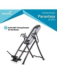 skandika Inversiontable PARANTAJA/Gravity Coach | Inversionsbank | Inversionstisch | Rückentrainer | Schwerkrafttrainer | klappbar | 4-5 Einstellungsstufen