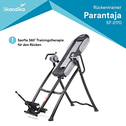 SKANDIKA Parantaja - Table d'inversion Pliante pour Exercices du Dos (5 Positions, Rembourrage...