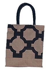 ABV Jute Lunch Bag, Black Color
