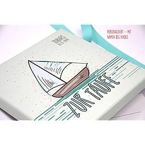 Geldgeschenk, Geld Verpackung, Glückwunschkarte zur Taufe PERSONALISIERT - BOOT