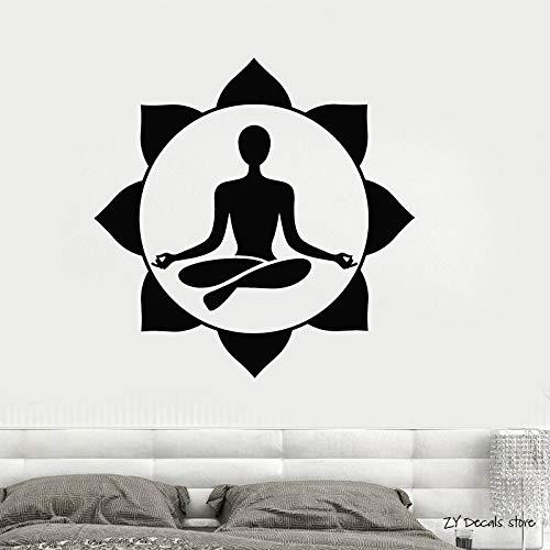 supmsds Yoga Zentrum Wandaufkleber Meditationsraum Buddhistische Wandaufkleber Kinder Kinderzimmer Babyzimmer Bettwäsche Yoga Wohnkultur Wallpaer84x84cm