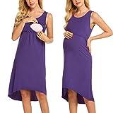 UNibelle Damen Umstandskleid Sommerkleid Brautkleider Schwangerschaft Langes Top Lange Maxi Umstandskleid Umstandsmode Sommer