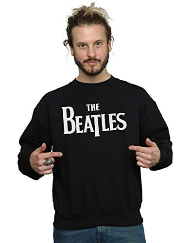 The Beatles Herren Drop T Logo Sweatshirt Schwarz X-Large -