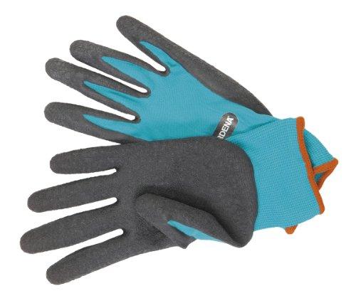 garten handschuhe GARDENA Garten- und Bodenhandschuh: Gartenhandschuhe für grobe Garten- und Bodenarbeiten, Größe 8/M, atmungsaktiv, wasserresistent dank Latexbeschichtung, optimaler Grip und Schutz (206-20)