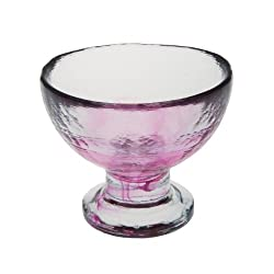 Abigails Clear Stone Age Dessert Cup, Hot Pink
